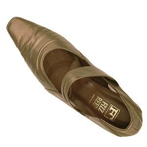 FIZZ REEN フィズリーン 6805 ブロンズ【会員登録で送料無料&ポイント10%!】魅せるデザインと歩きやすく痛くならない信頼の日本製レディースシューズ・ブランド ソフトレザーのトレンディなパンプスです
