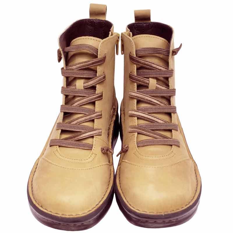 《Put's プッツ》《SPORTS NINE スポーツナイン》8468  84685ライトブラウン【会員登録で送料無料&ポイント10%!】足に吸いつくようなはきごこち! 脱ぎ履きカンタンのサイドファスナー付き編み上げブーツです