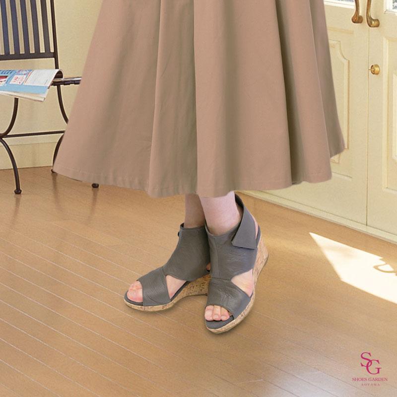 《FIZZ REEN フィズリーン》6800 オーク【会員登録で送料交換無料&ポイント10%!】 魅せるデザインと歩きやすく痛くならない信頼の日本製レディースシューズ・ブランド おしゃれな厚底サマーブーツです