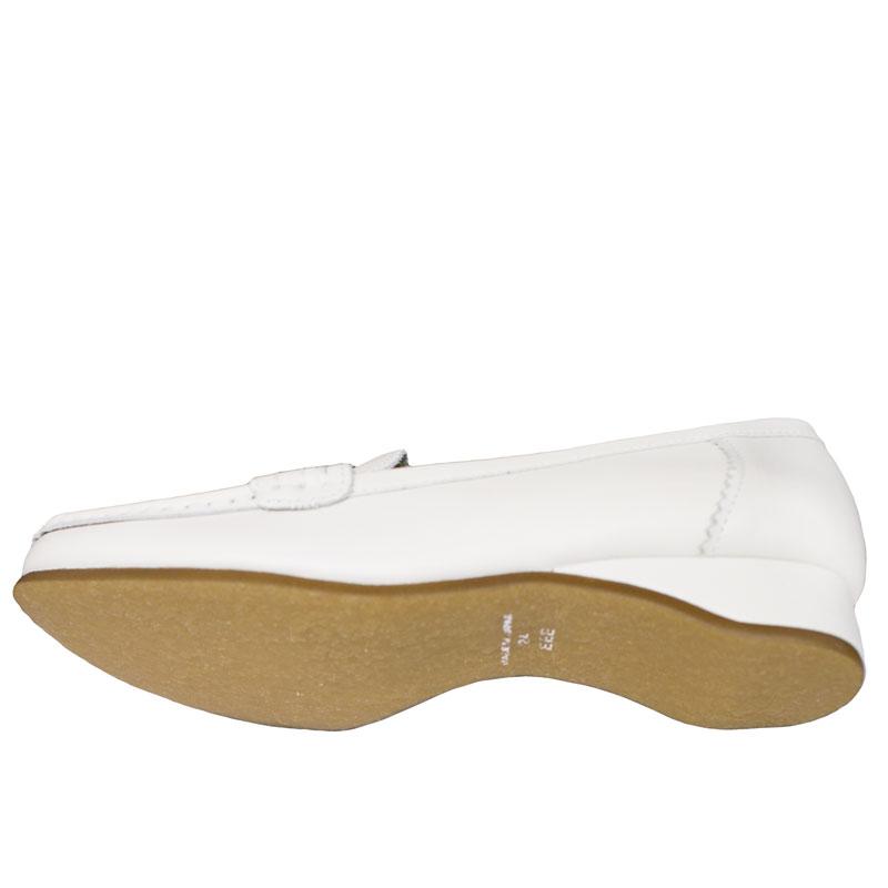 FIZZ REEN フィズリーン 1820 ホワイト 【会員登録で送料無料&ポイント10%!】 魅せるデザインと歩きやすく痛くならない信頼の日本製レディースシューズ・ブランド 少し高さのあるおとなモカシン