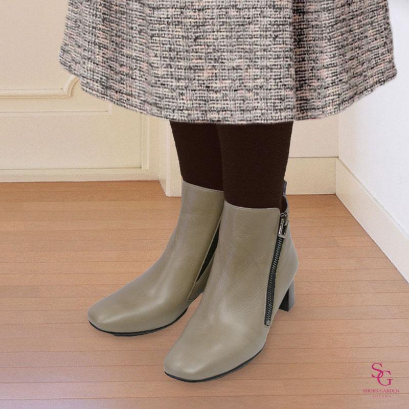 FIZZ REEN フィズリーン 1984 オーク【会員登録で送料無料&ポイント10%!】 魅せるデザインと歩きやすく痛くならない信頼の日本製レディースシューズ・ブランド ミドルヒールのおしゃれブーツです