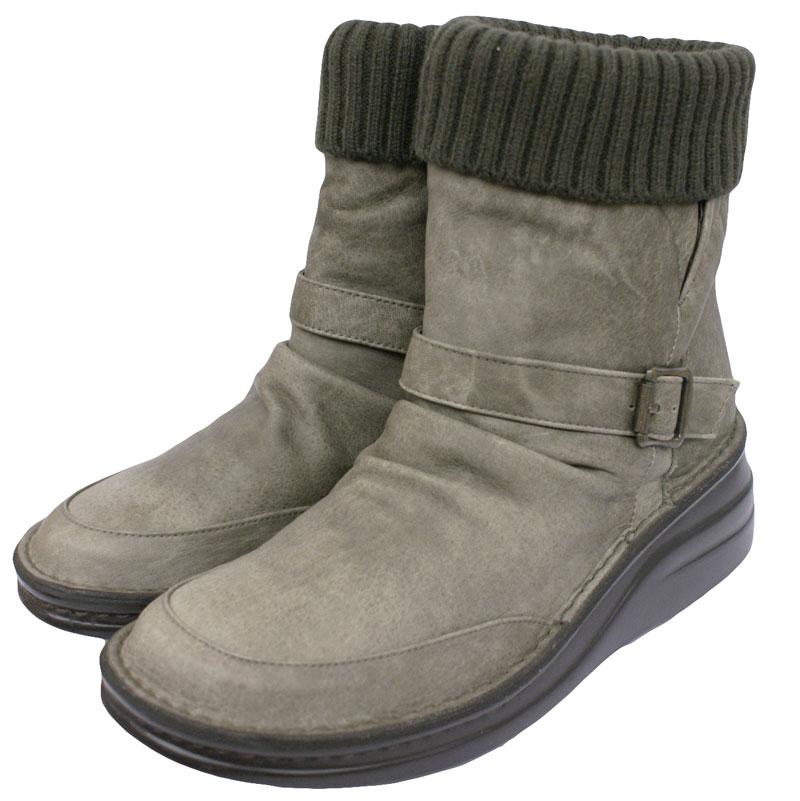 《Put's プッツ》83409 グレー【会員登録で送料無料&ポイント10%!】 足に吸いつくようなはきごこち! 外反母趾にやさしいゆったり幅のEEE 折り返しOKなウールがかわいいナチュラルスタイルのブーツです