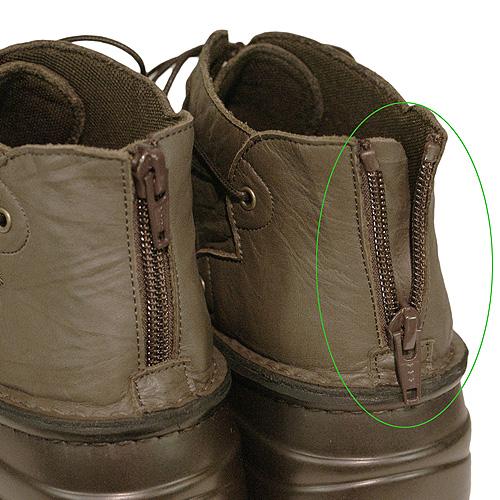 《SPORTS NINE スポーツナイン》《Put's プッツ》83085 チョコ【会員登録で送料無料&ポイント10%!】足に吸いつくようなはきごこち! 外反母趾にやさしいゆったり幅のEEE 脱ぎ履きカンタンのバックファスナー付き編み上げブーツです