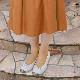 《FIZZ REEN フィズリーン》390 アイボリー【会員登録で送料無料&ポイント10%!】 魅せるデザインと歩きやすく痛くならない信頼の日本製レディースシューズ・ブランド ゆったり幅のEEE フェミニンさがすてきなバレリーナシューズです