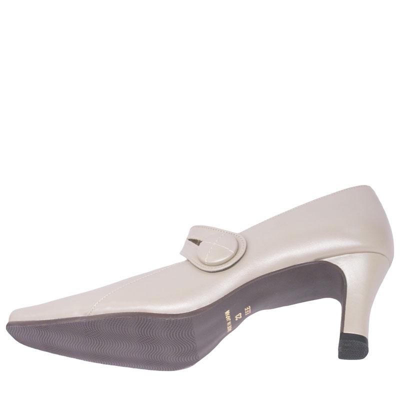 FIZZ REEN フィズリーン 8970 グレーベージュ【会員登録で送料無料&ポイント10%!】魅せるデザインと歩きやすく痛くならない信頼の日本製レディースシューズ・ブランド FIZZ REENのパンプスと言ったらこれ!というくらいの人気パンプスです