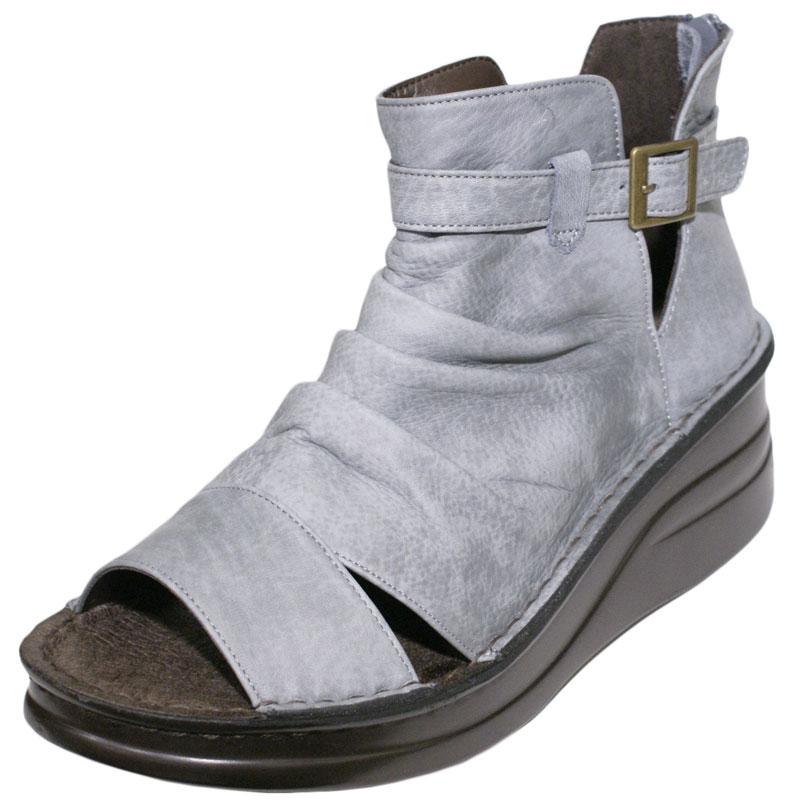 《Put's プッツ》4117 ブルーグレー【会員登録で送料無料&ポイント10%!】 足に吸いつくようなはきごこち! 外反母趾にやさしいゆったり幅のEEE ラウンドトゥのナチュラルスタイルのサマーブーツです