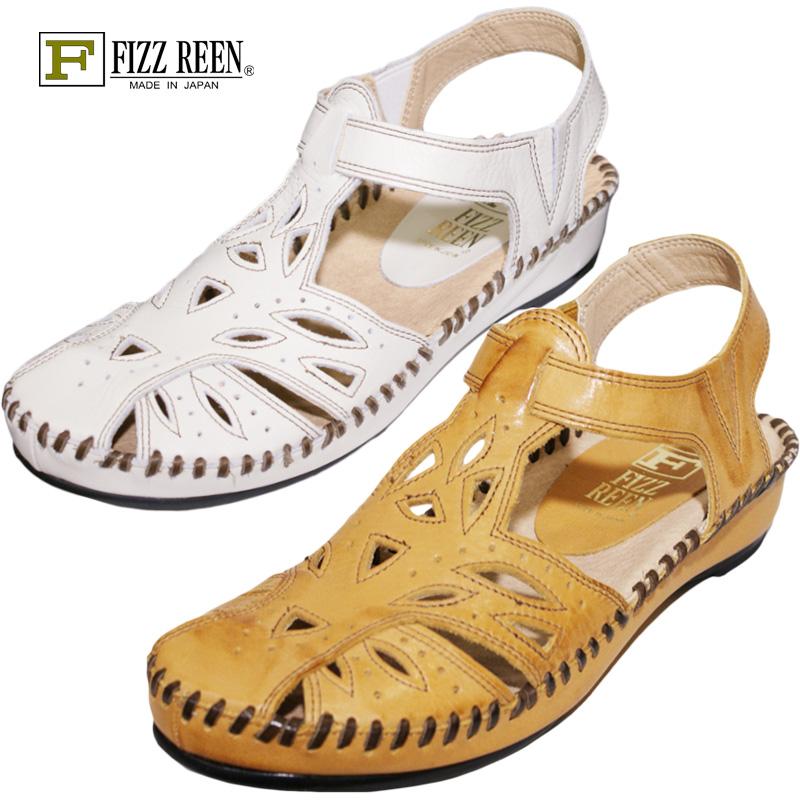 FIZZ REEN フィズリーン 711 キャメル【会員登録で送料無料&ポイント10%!】 魅せるデザインと歩きやすく痛くならない信頼の日本製レディースシューズ・ブランド おとなのフォークロアサンダルです