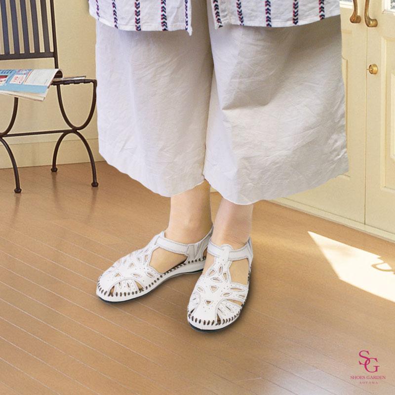 FIZZ REEN フィズリーン 711 アイボリー【会員登録で送料無料&ポイント10%!】 魅せるデザインと歩きやすく痛くならない信頼の日本製レディースシューズ・ブランド おとなのフォークロアサンダルです