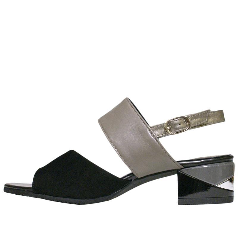 FIZZ REEN フィズリーン 8181 ブラック【会員登録で送料無料&ポイント10%!】魅せるデザインと歩きやすく痛くならない信頼の日本製レディースシューズ・ブランド バイカラーのおしゃれサンダルです
