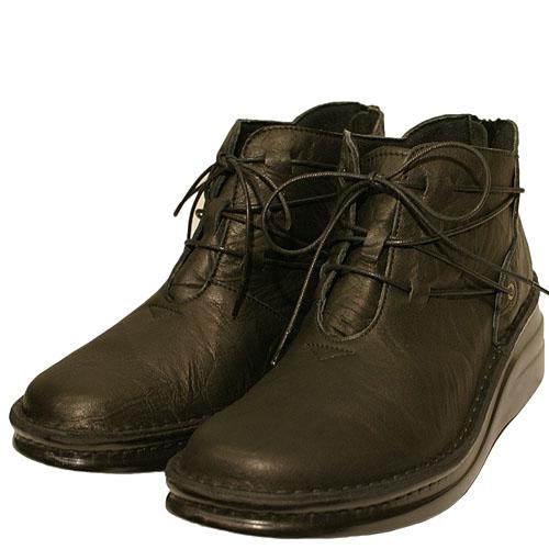 《SPORTS NINE スポーツナイン》《Put's プッツ》83085 ブラック【会員登録で送料無料&ポイント10%!】足に吸いつくようなはきごこち! 外反母趾にやさしいゆったり幅のEEE 脱ぎ履きカンタンのバックファスナー付き編み上げブーツです