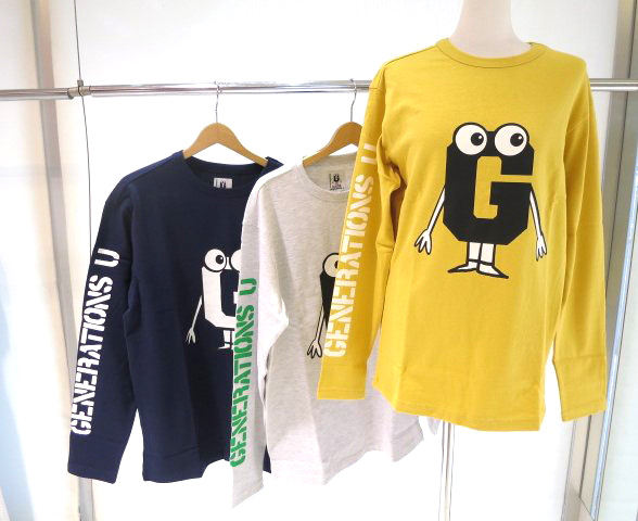 GUESS GENERATIONSコラボアイテム LOGO L/S TEE M0GMK1K7702<STRONG><FONT color=#ff0033>30%OFF!!</FONT></STRONG>