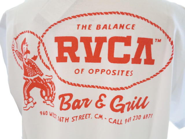 """<strong><font color=""""#ff0033"""">30%OFF!!</font></strong>RVCA メンズ カーボーイTシャツ BB041249"""