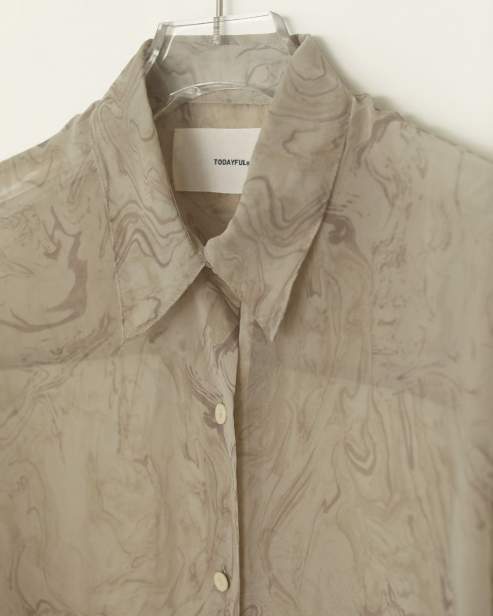 TODAYFUL Marble Sheer Shirts 予約 12110411