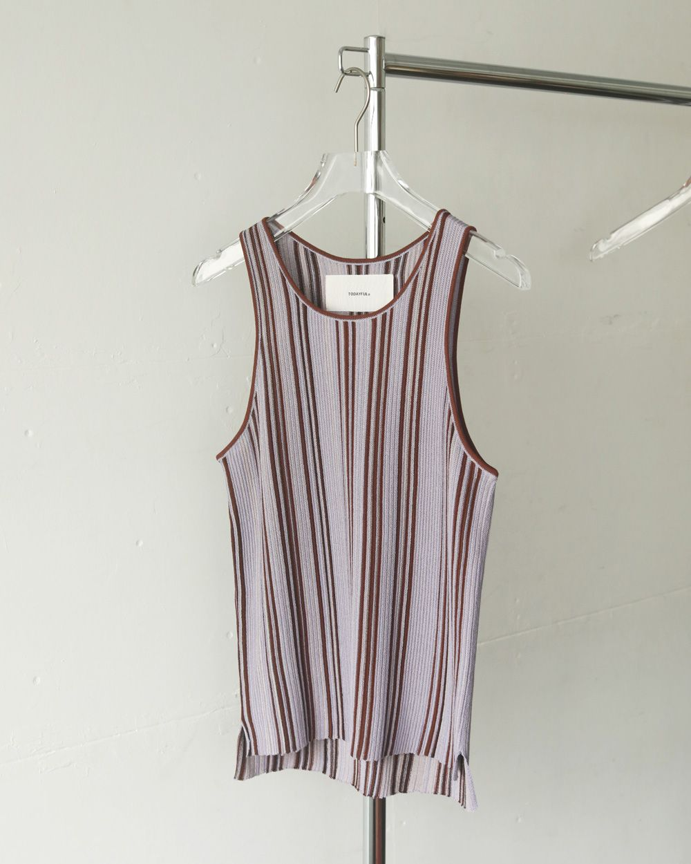 TODAYFUL Stripe Knit Tanktop 予約 12110519