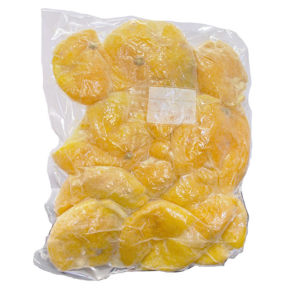 木頭柚子の果皮【内皮あり(ふさ有り)】 (冷凍) 1kg [要冷凍]
