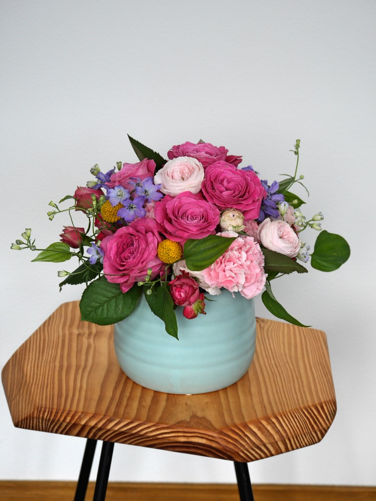 お祝いアレンジメント花S(籠)