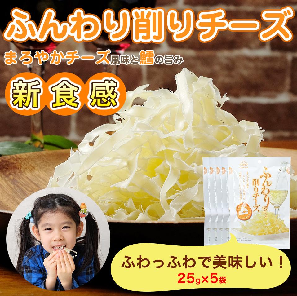 ふんわり削りチーズ 25g×5袋 【メール便・送料無料】