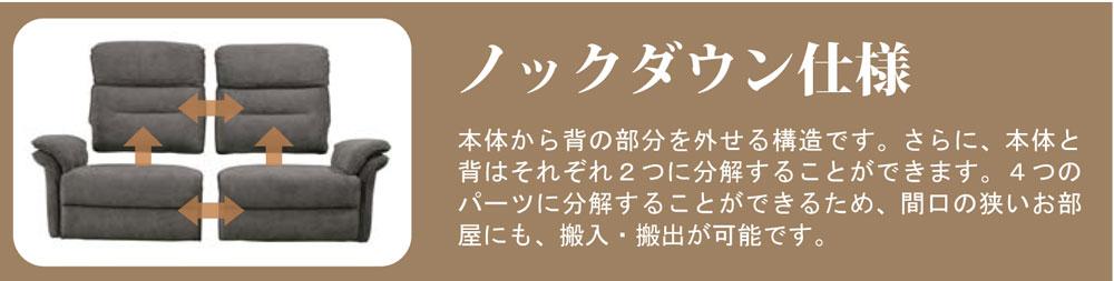 【筑波産商】電動リクライニングソファ マスケット3S2モーター