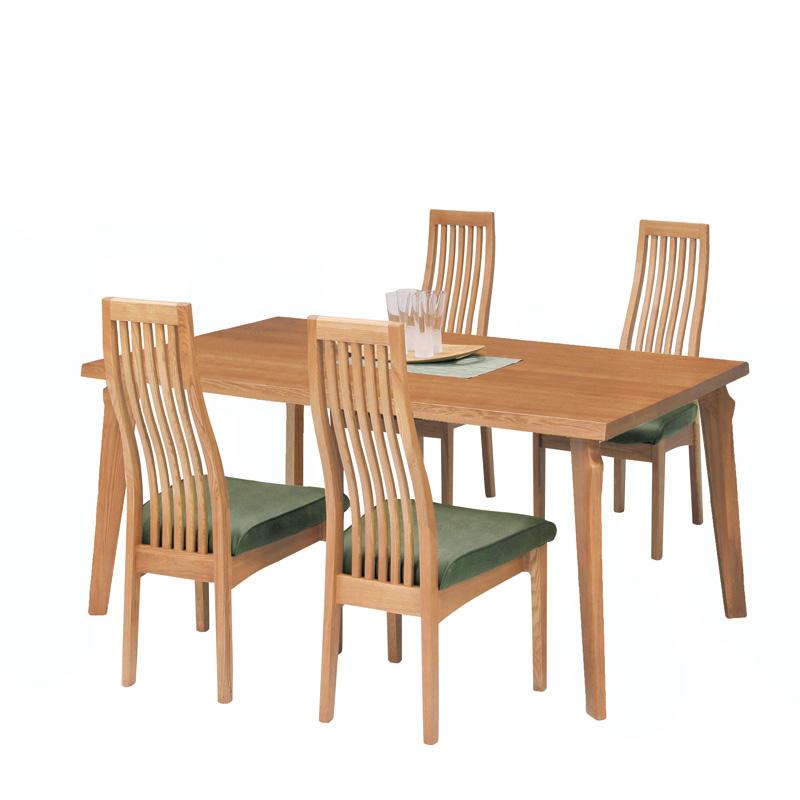 4人掛けダイニングセット ローレンス テーブル幅135� タモ材
