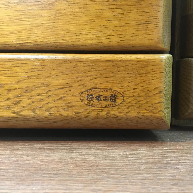 【浜本工芸】 TVボード No3500 (幅180) ダークオーク ナラ材 国産家具