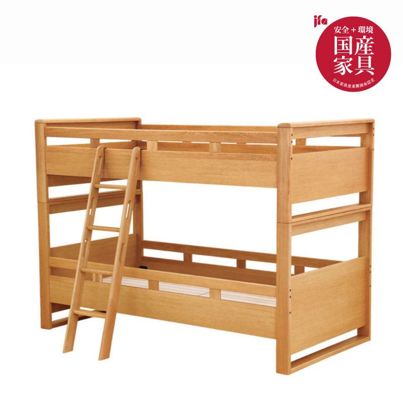 【浜本工芸】 2段ベッド No.5004 ナチュラルオーク 国産家具