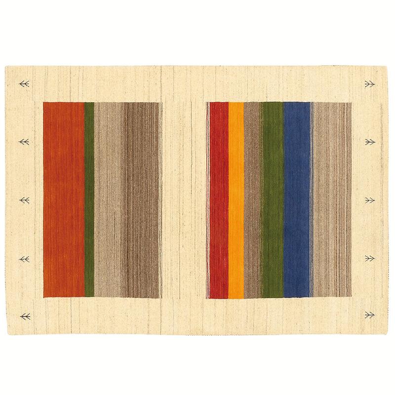 【輸入カーペット】 ハンドメイドスマートギャベ スマートギャベ インド製 ウール100%