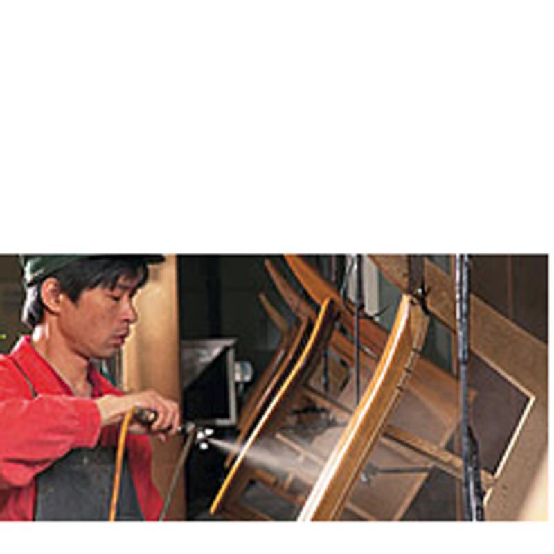 【浜本工芸】 3人掛け革張りソファ WL-1800 幅167� 木部:ダークオーク 張地皮革:2410 国産家具