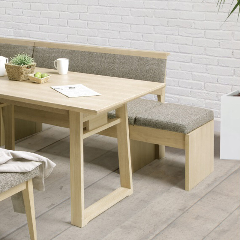 【シギヤマ家具】 3〜5人掛け伸長式リビングダイニングセット ジャスト テーブル幅120〜150cm