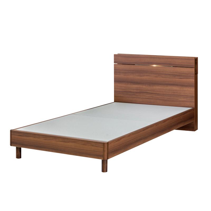 【日本ベッド】 シングルベッドセット デイズシェルフFE+マットレス・シルキーパフ