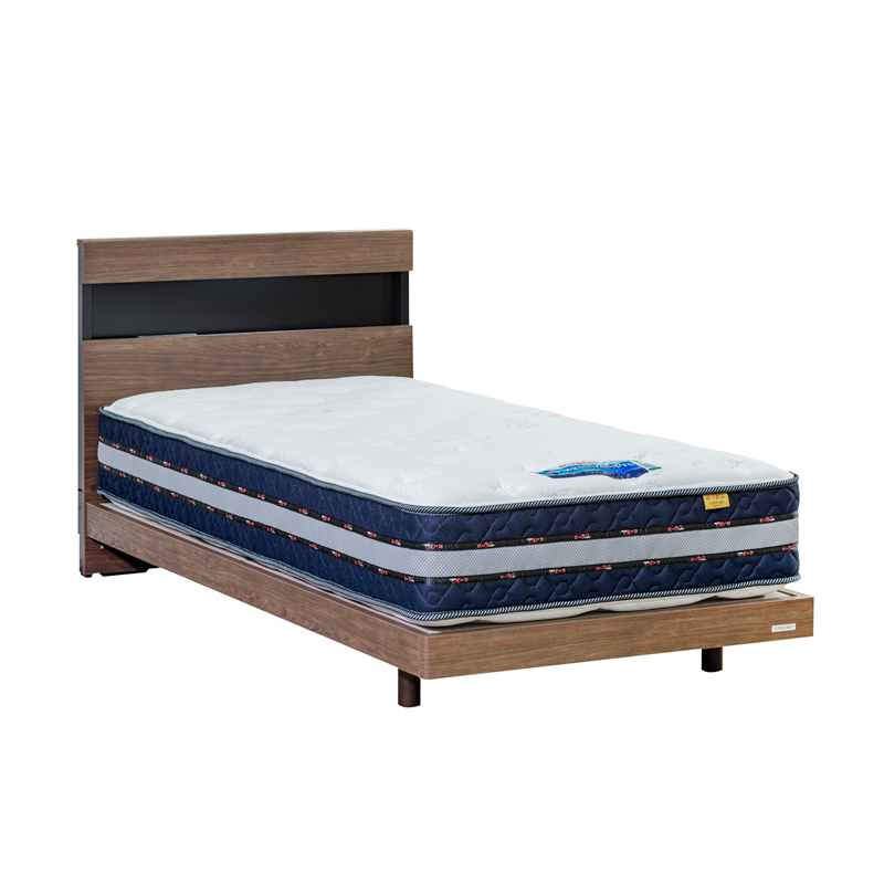 【東京ベッド】 シングルベッドセット(レッグタイプ) フルボLG+マットレス・αバリューSPハードNo.567
