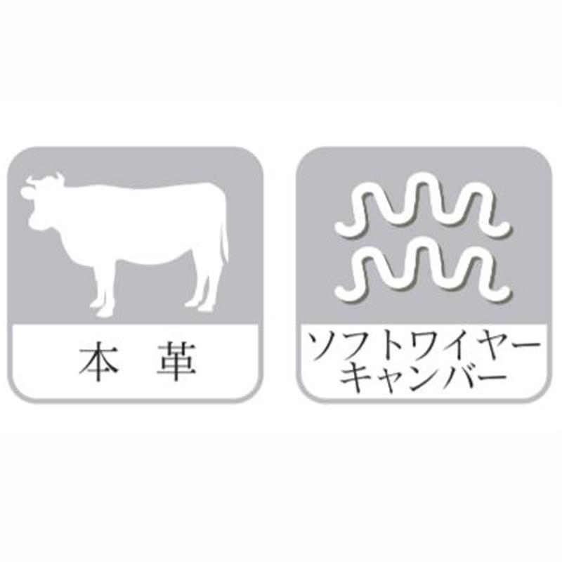 【アサヒ】 3人掛けソファ ホルン3P(C:半革) 国産家具