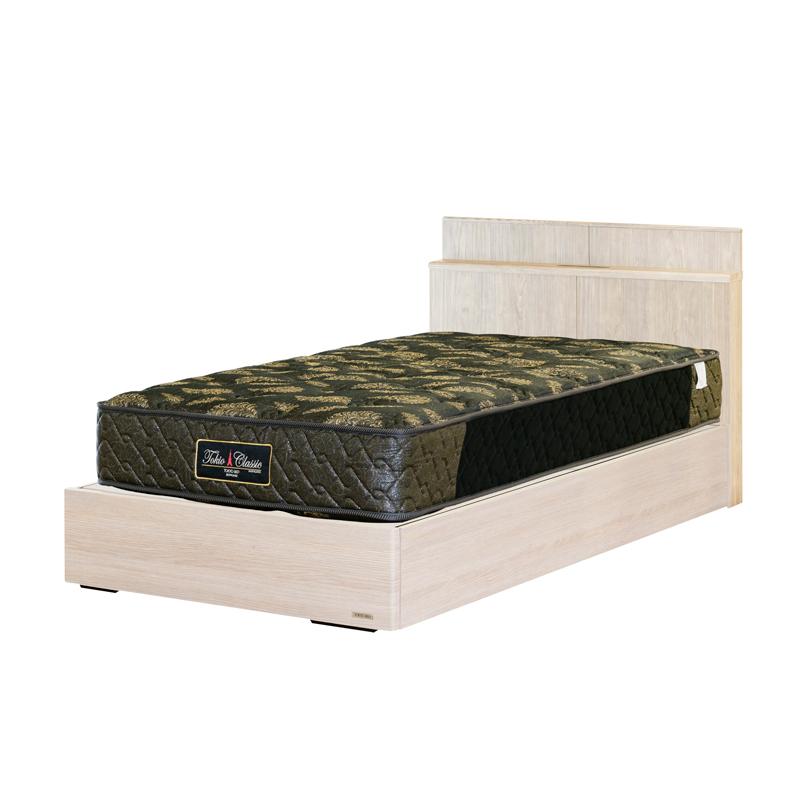 【東京ベッド】シングルベッドセット(ボックスタイプ・引出無し) 401C+マットレス・トキオリバティー