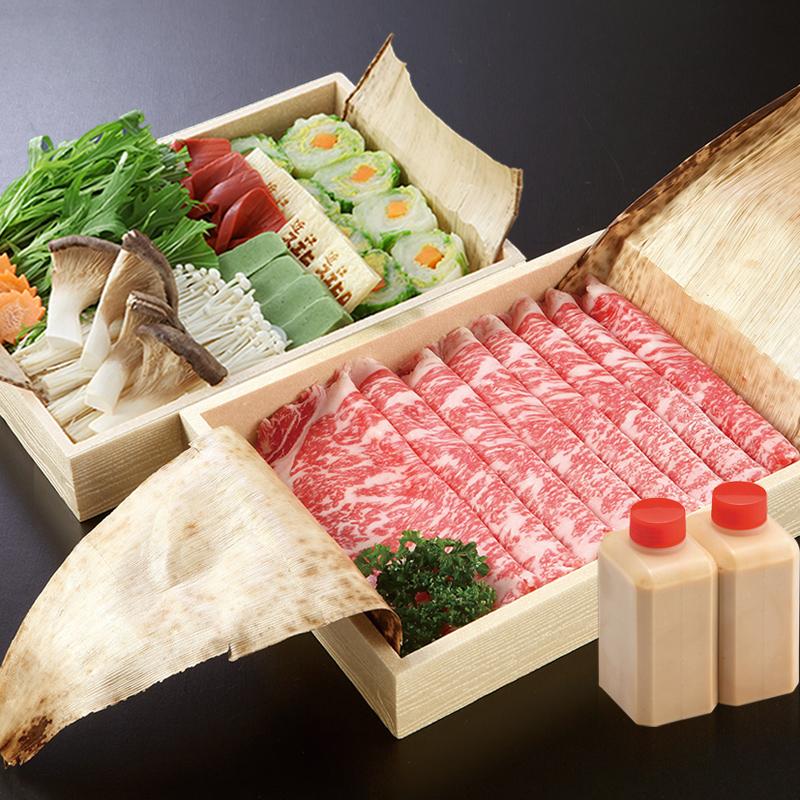 特選国産霜降牛しゃぶしゃぶセット(ロース肉・野菜・胡麻タレ)[2人前]【セット】