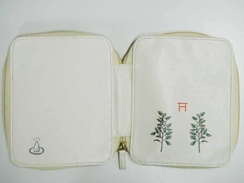 お浄め手帳ジップカバー(白色)