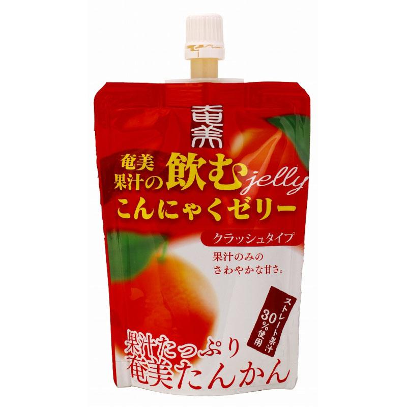 奄美果汁の飲むこんにゃくゼリー 奄美たんかん クラッシュタイプ / 内容量:130g