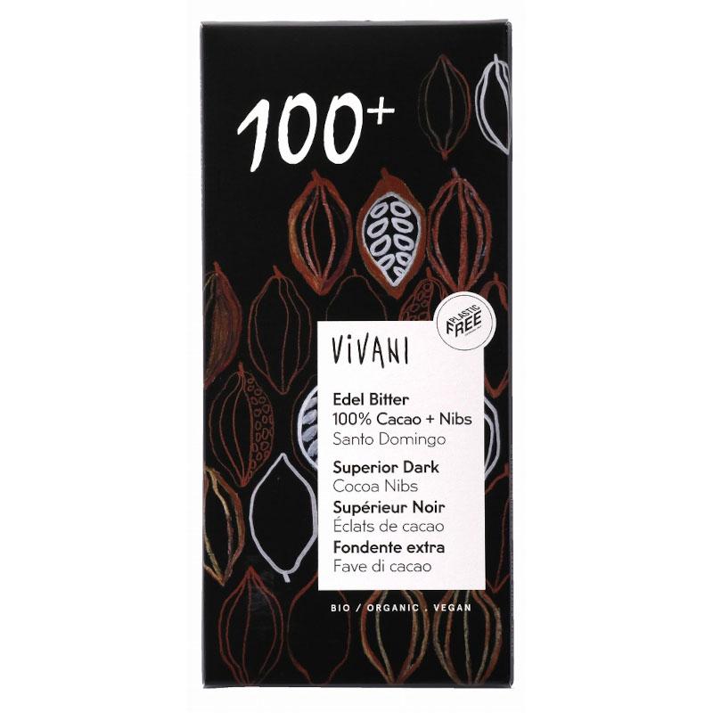 ViVANI オーガニックエキストラダークチョコレート 100% / 内容量:80g