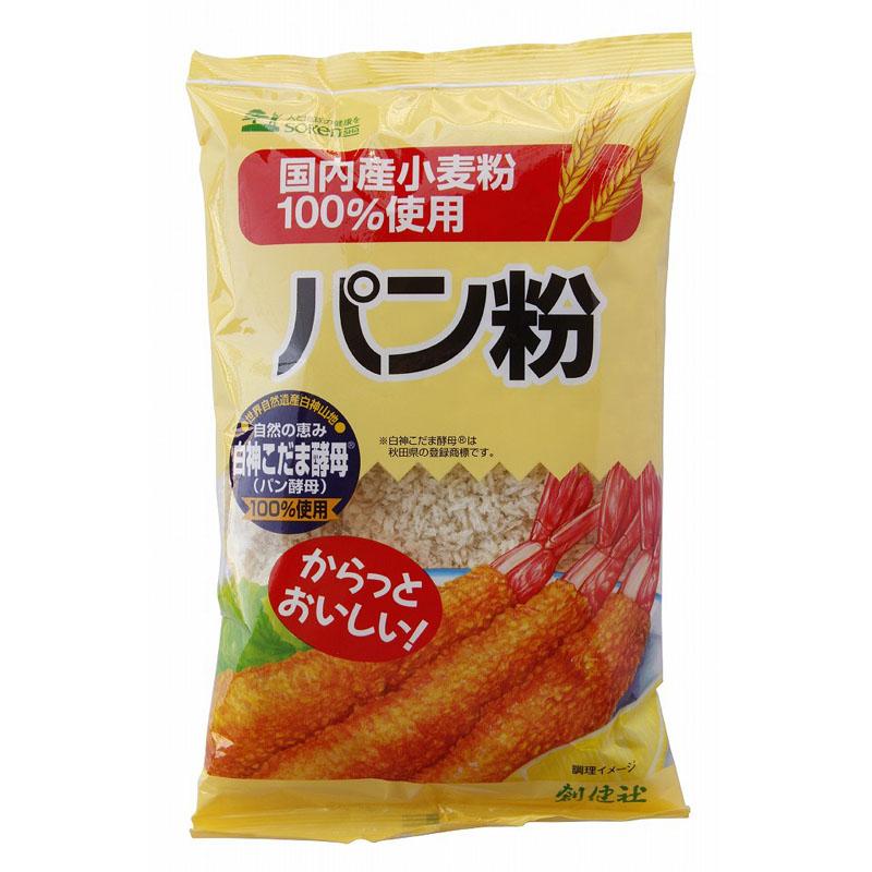 創健社 国内産小麦粉100%パン粉  150G