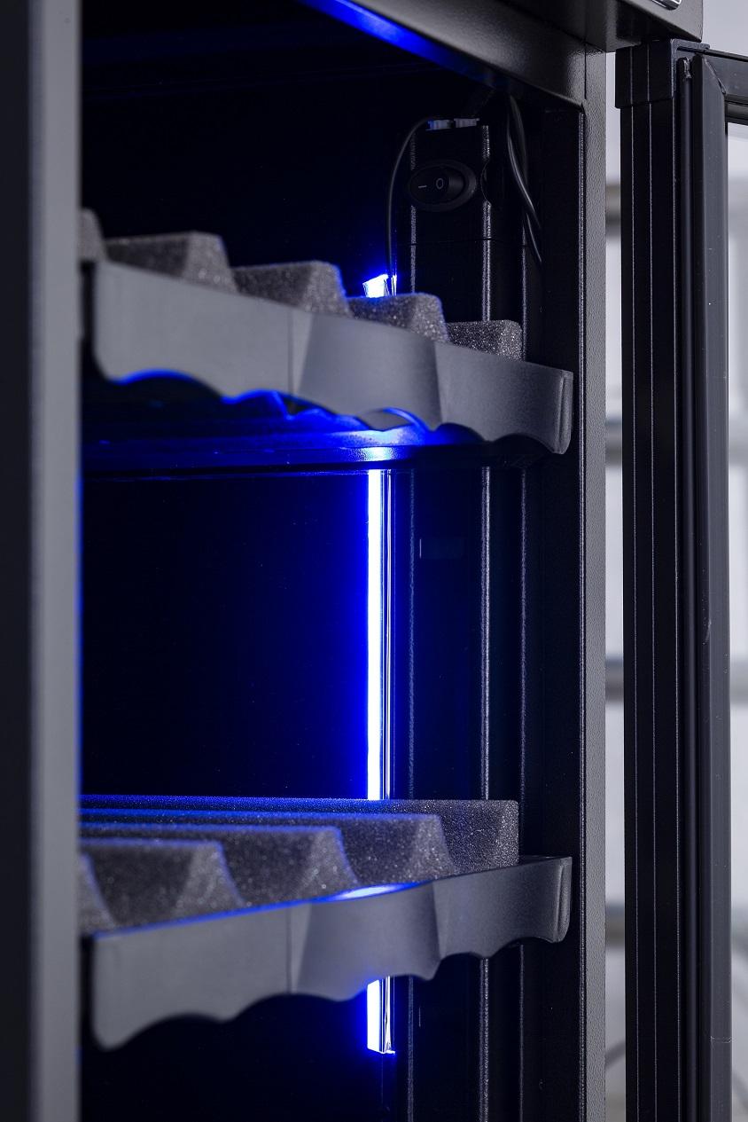 大石電機 ドライキャビネット DHC-040 LED照明付き仕様 容量40L 内部LED照明付き コンパクト且つタッチパネルで湿度設定がかんたん