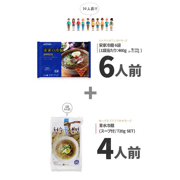 韓国冷麺 10人前セット