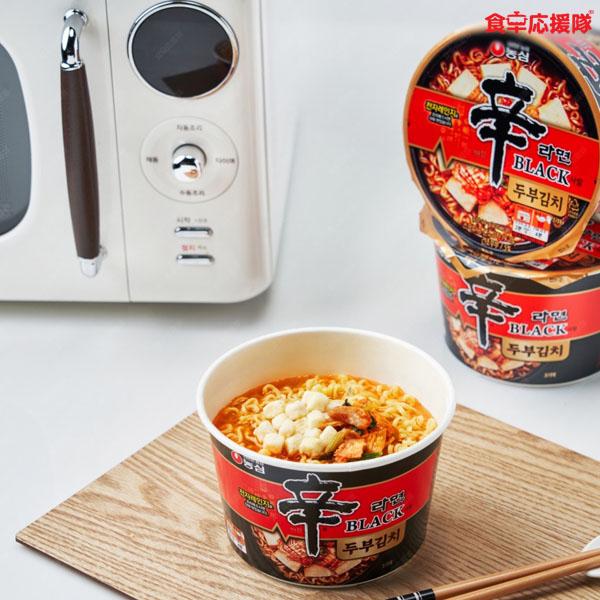 辛ラーメンブラック 豆腐キムチ カップ麺 94g