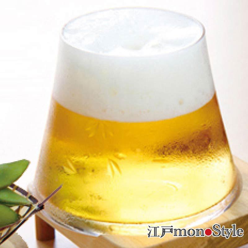 【江戸硝子】富士山ビールグラス(クリア)【名入れ・メッセージ入れ可】