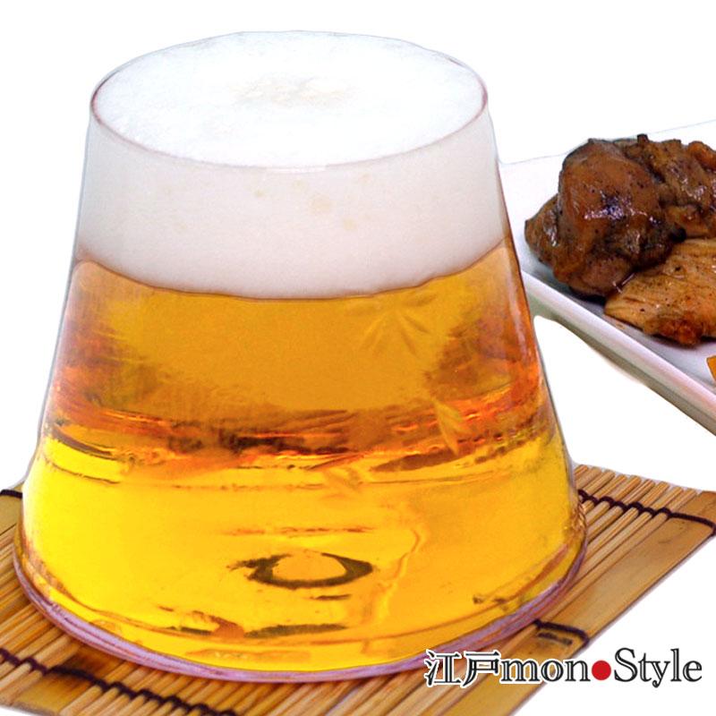 【江戸硝子】富士山ビールグラス(さくら)【名入れ・メッセージ入れ可】
