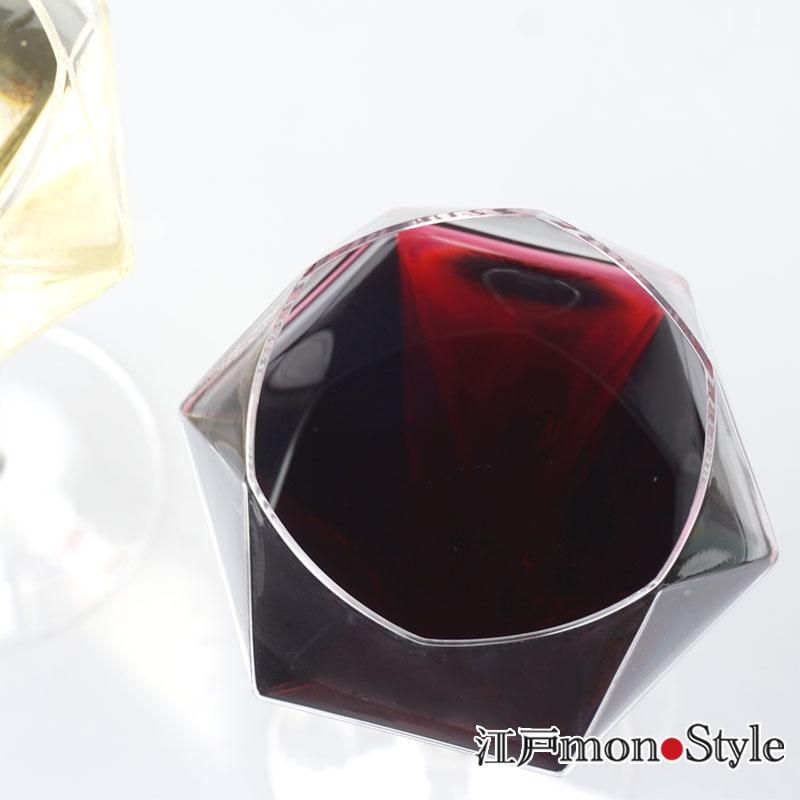 【江戸硝子】ダイヤモンドワイングラス(ロング)