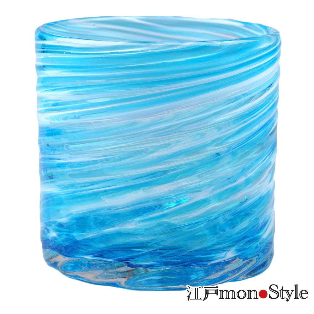 【琉球ガラス】【ペア】ロックグラス(美ら海/ピンク&水色)【メッセージ入れ可】