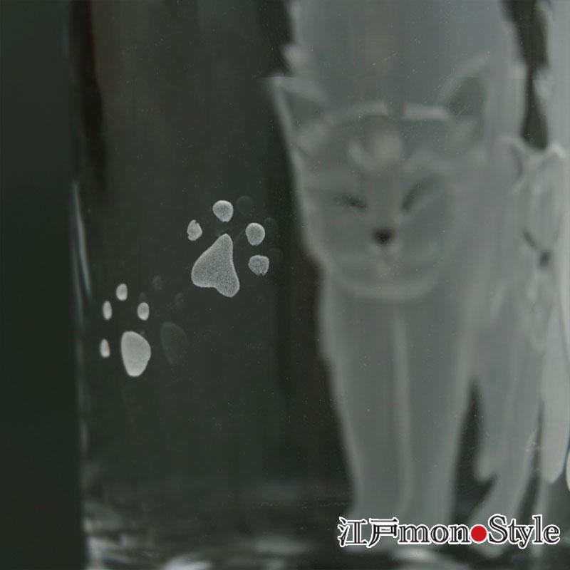 【サンドブラスト】猫タンブラー(仲良し猫)【名入れ可】