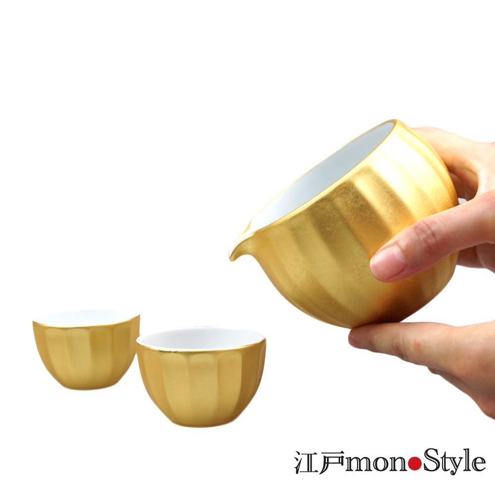 【金沢箔】金箔酒器セット(無垢)