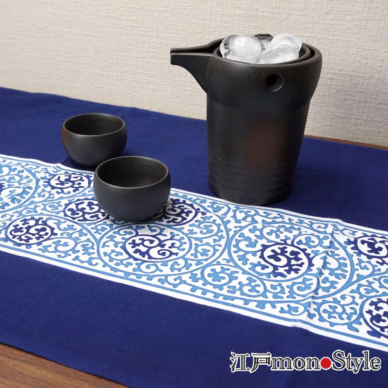 【美濃焼】冷酒器セットゆらり(2合用/黒備前風)