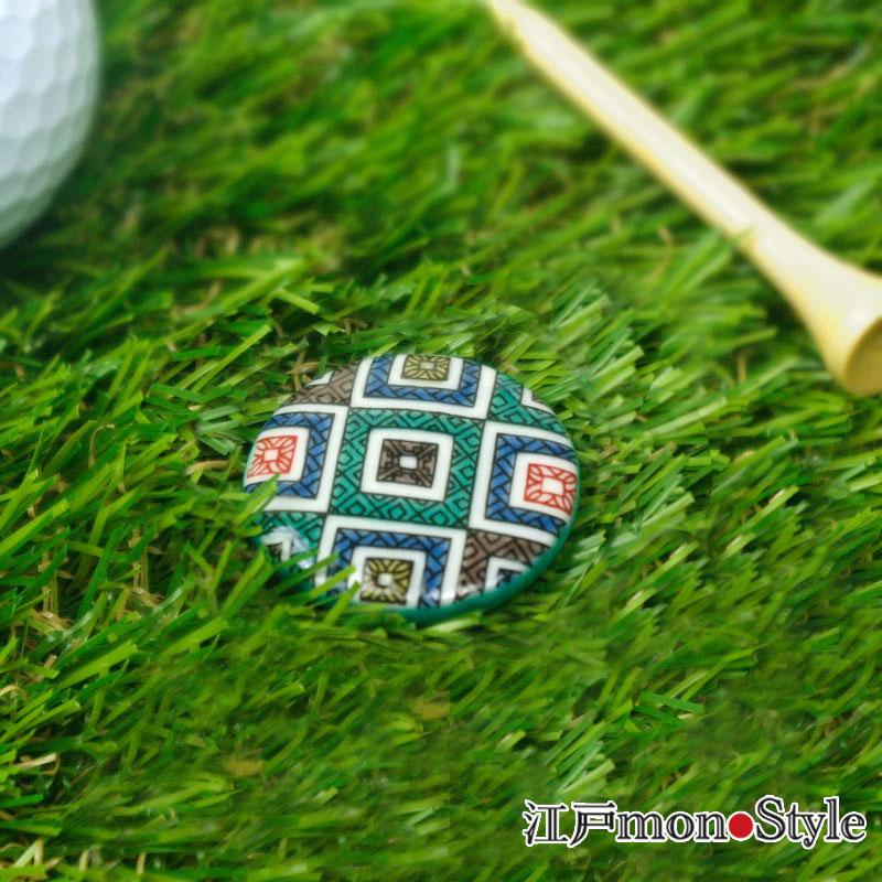【九谷焼】ゴルフマーカー(石畳)