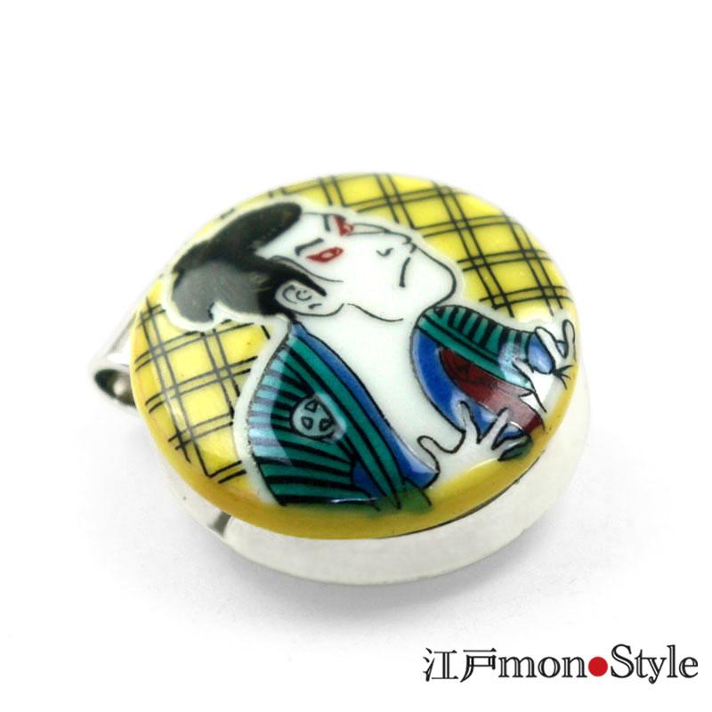【九谷焼】ゴルフマーカー(写楽)