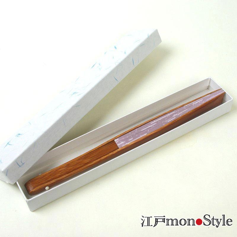 江戸柄扇子(分銅・薄紫・22.5cm)【名入れ可】